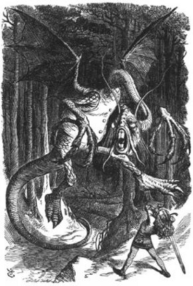 Illustration to the poem Jabberwocky